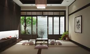 Japanese Traditional Kitchen Zen Dining Room Design Floor Cushions Asian Theme Dining Room