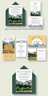 mountain wedding invitations lovely wedding invitation designs wedding invitation