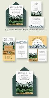 mountain wedding invitations lovely wedding invitation designs wedding invitation