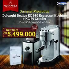 Delonghi Coffee Grinder Kg89 Produsen Paket Promo Delonghi Dedica Ec680 Kg 89 Grinder