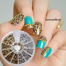 Nail Decorations 0 99 2pcs Leaf Pineapple 3d Nail Decoration Metal Stud For Uv Gel