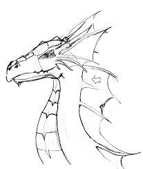 dragon head sketch by rheepublic on deviantart