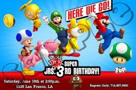 super mario bros birthday invitation mario bros party printables