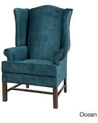 Microfiber Accent Chair Here S A Great Price On Treviso Wingback Cherry Finish Wood
