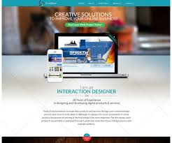 Design Home Page Online Psd Web Template For Designer Modern Photoshop Website Template