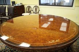 Quality Dining Room Furniture by Luxurious 72 Inch Round Walnut And Pearl Inlaid Dining Table