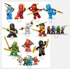 ninjago cake toppers 22 x lego ninjago birthday edible stand up cupcake toppers
