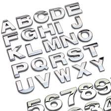 english letters car stickers promotion shop for promotional