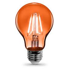 feit electric 3 6 watt orange a19 filament led light bulb case of