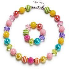 bracelet bead sets images Vcmart rainbow little girls chunky bubblegum necklace jpg