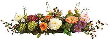 Silk Flower Centerpieces Amazon Com Nearly Natural 4665 Peony Centerpiece Silk Flower
