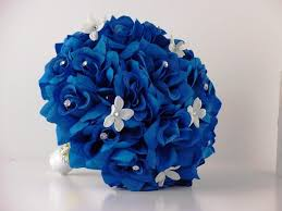 fall flowers for wedding blue flowers for wedding blue wedding bouquet with white roses