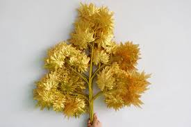 aliexpress buy 12pcs 60cm length gold maple leaf tree leaf