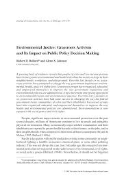environmental justice grassroots activism and its impact on