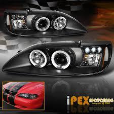 ebay mustang headlights 1994 1998 ford mustang gt svt cobra v6 halo projector led