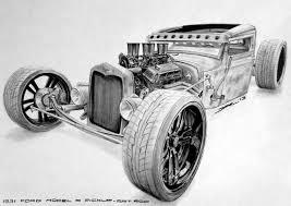 vintage cars drawings 1931 ford model a pickup rat rod by krzysiek jac on deviantart