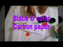 How To Make Carbon Paper At Home - how to make a black and colour carbon paper at home