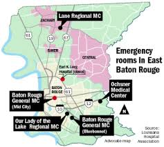 Baton Rouge Map Baton Rouge General To Close Its Mid City Emergency Room
