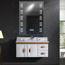Bathroom 60 Leds Mirror Light Fog Demister Clock With Toothbrush