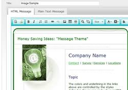 create a mass email template in campaign enterprise 12 arial