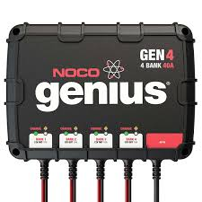 amazon com noco genius gen4 40 amp 4 bank waterproof smart on