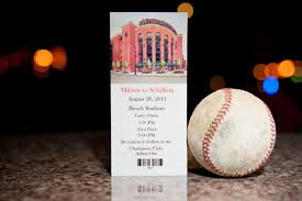 Baseball Wedding Invitations Jennifer And Keith Sports Roses Your Passion For Sports U2026expressed