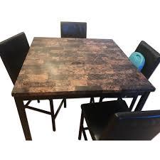 granite top dining table granite top dining table w 4 chairs aptdeco