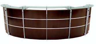 Reception Desk Curved Walnut Reception Desk In Stock Free Shipping