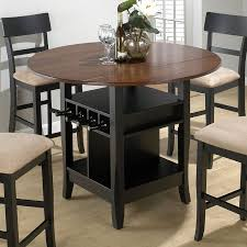 Round Dining Room Table With Leaf Dining Room Elegant Drop Leaf Kitchen Table Sets 3 Tables For With