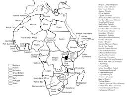 Blank African Map by Student Zone