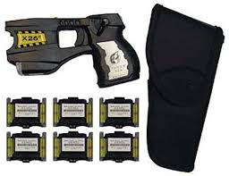 cartridges taser gun taser x26c with laser light including six cartridges and holster black