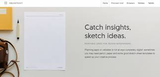 20 sketch sheets and templates for designing web and app layouts