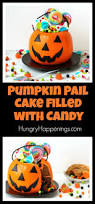 pumpkin pail cake filled with halloween candy hungry happenings