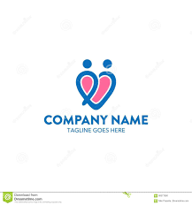 unique dating logo stock vector image 90077990