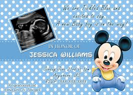 Mickey Mouse Invitation Card Baby Mickey Mouse Baby Shower Invitations U2013 Frenchkitten Net