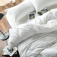 amazon com solid washed cotton minimalist style duvet cover