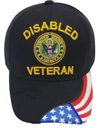 Black Flag Hat U S Army Hat Black Logo Disabled Veteran Baseball Cap With
