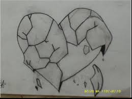 broken heart pencil draw pretty broken hearts drawings free