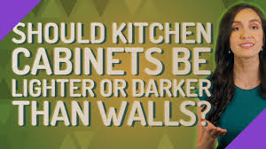 should kitchen cabinets be lighter than walls should kitchen cabinets be lighter or darker than walls