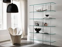 nella vetrina tonelli trasparenza italian contemporary glass bookcase