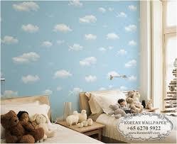 wallpapers for kids bedroom lohas 87118 buy children kids blue cloud wallpaper