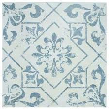 home depot black friday lottery merola tile lotto cobalto 17 3 4 in x 17 3 4 in ceramic floor