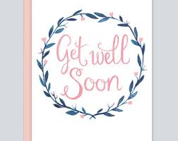 card for sick friend customized get well card feel better card get well soon