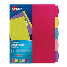 bold colors amazon com avery big tab reversible fashion dividers 5 tabs 1
