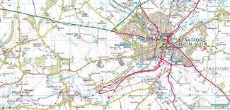 Riverwalk Map Shakespeare U0027s Stratford Upon Avon River Walk Warwickshire Walks
