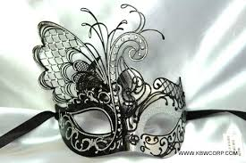 silver mask black and silver mask with butterfly wing laser cut and crystals