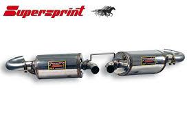 porsche boxster 987 exhaust supersprint exhaust muffler for porsche boxster 243604 243604