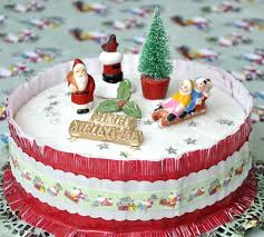 santa claus christmas cake centerpiece for christmas party table