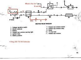 land rover 90 200 tdi heated rear window wiring diagram pilau u0027s