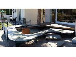 Concrete Table And Benches Benches Ernsdorf Design Concrete Fire Pit Bowls Furniture And Art